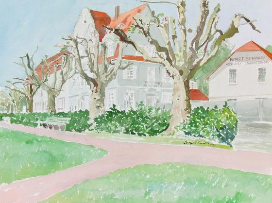 Cropped Plane Trees (Platanes Taillés),1990