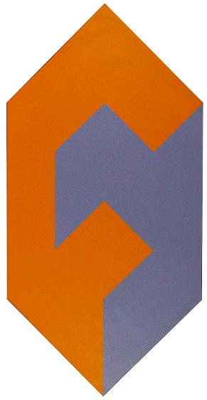 Form to Shape, Orange and Purple, 1974