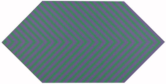 Linear Form, Green and Purple, 1974