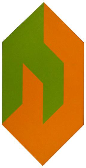Shape to Form, Green and Orange, 1974