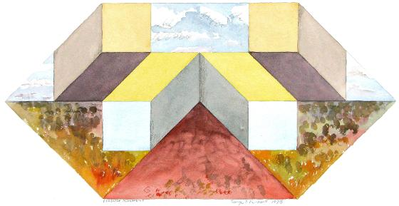 Roadside Monument , 1978, With Pencil