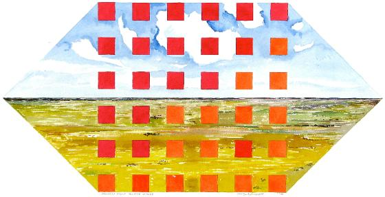 Squares Front: Red And Orange, 1986